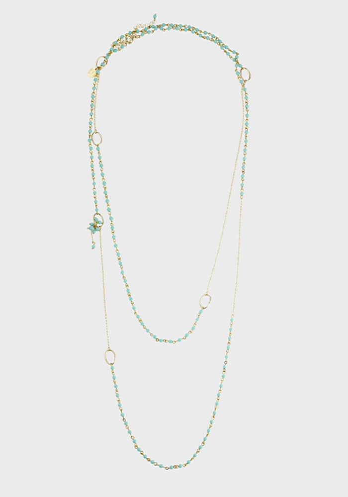Charleston Small long necklace - Turquoise