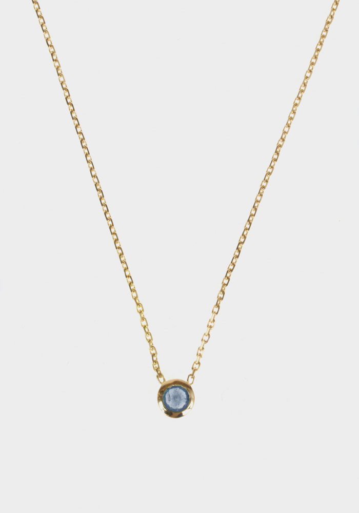 Rose necklace Sapphire