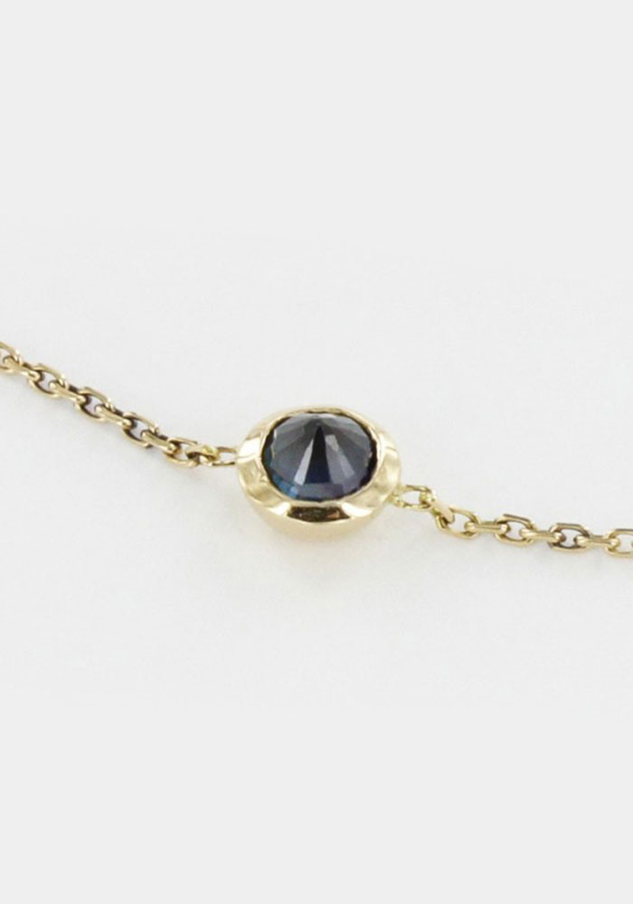 Rose necklace - Sapphire
