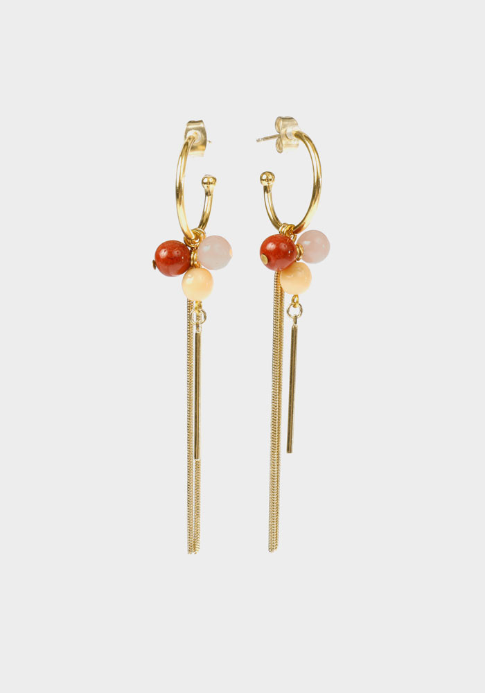 Boucles d'oreilles Wildberry small Rose