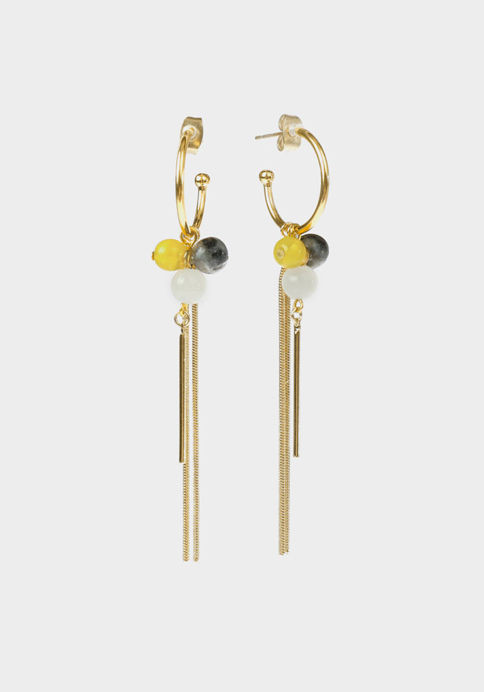 Wildberry earrings small Yellow