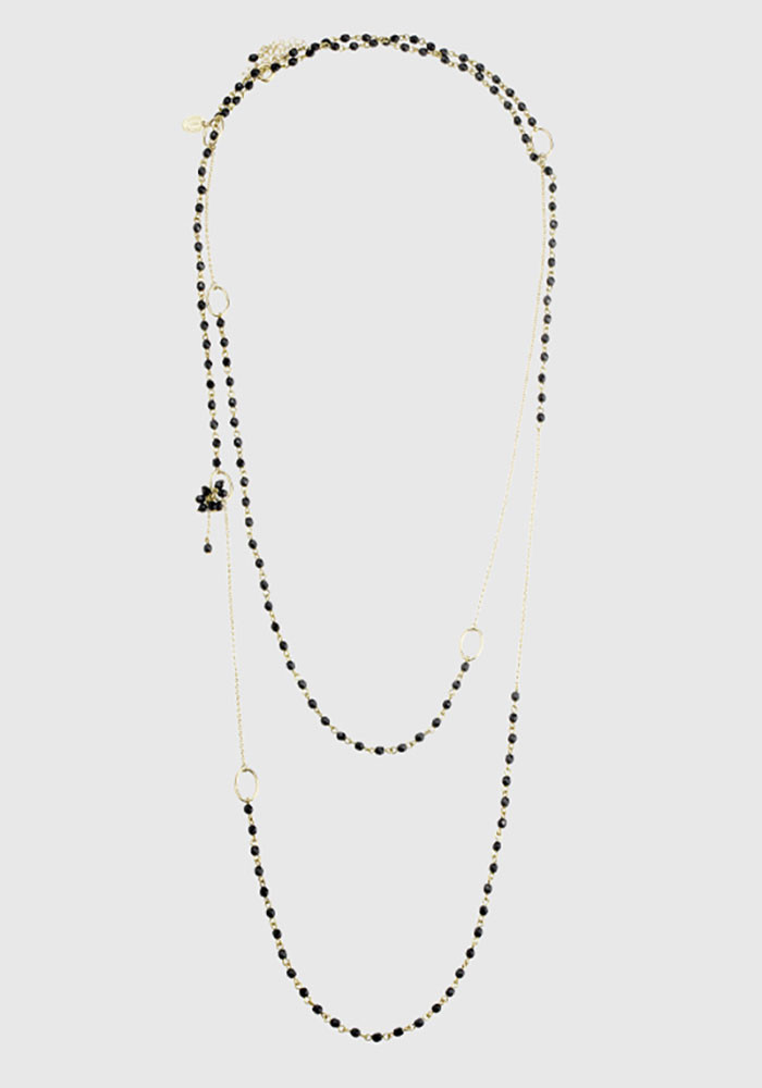 Charleston Small long necklace - Black