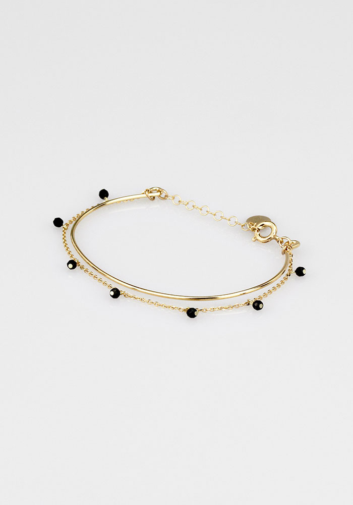 Kawaii bangle - Black (agate)