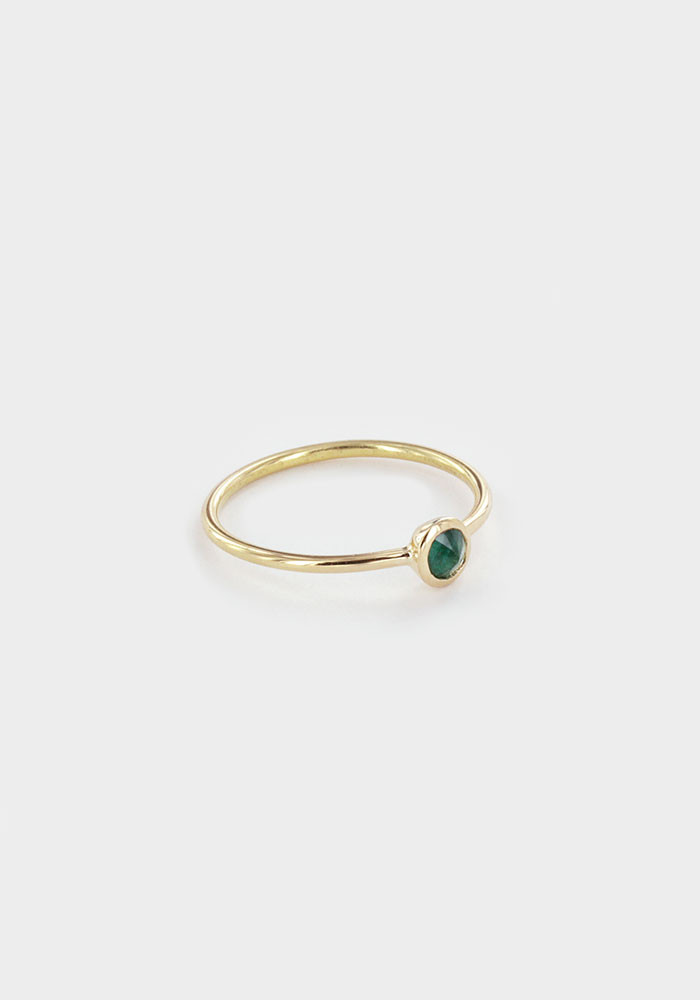 Rose emerald ring