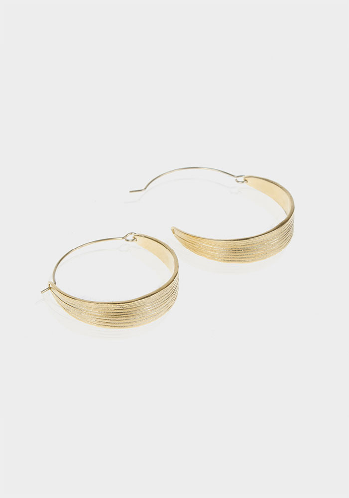 Rivoli hoop earrings