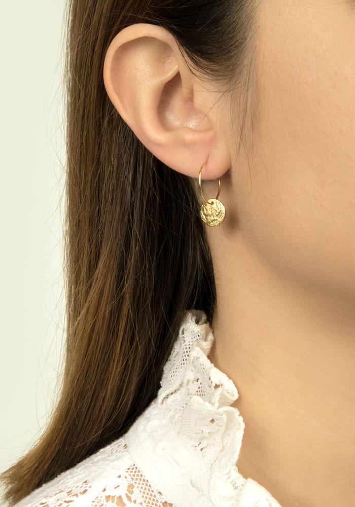 William hoop earrings
