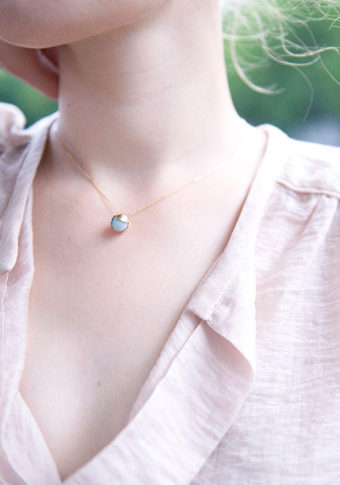 Noisette necklace Aventurine